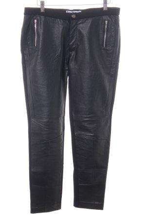 Isaco & Kawa Leren broek zwart casual uitstraling
