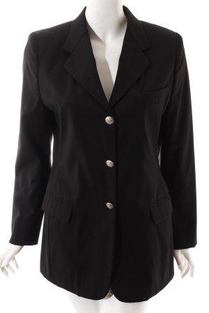 isaia Long-Blazer schwarz klassischer Stil
