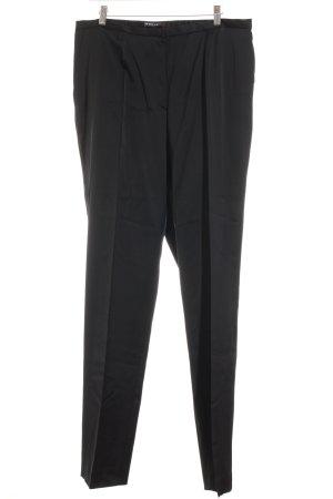 Ischiko Pantalon à pinces noir élégant