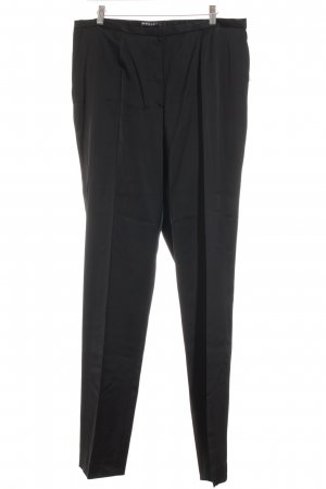 Ischiko Bundfaltenhose schwarz Elegant