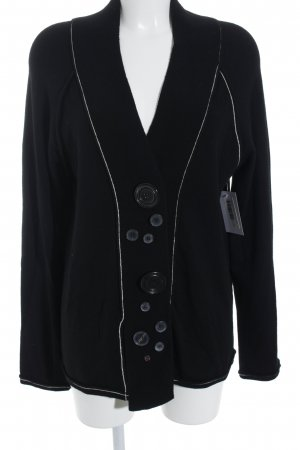 Ischiko Strickjacke schwarz-wollweiß 90ies-Stil