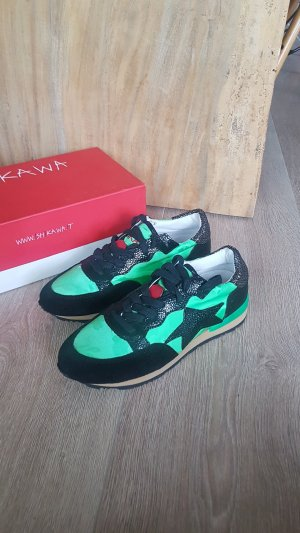 ISHIKAWA sneaker turnschuhe schwarz grün gr.37 NEU