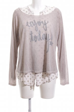 iSilk Strickpullover pink-weiß Punktemuster Casual-Look