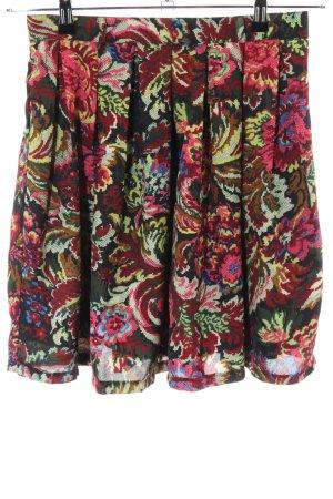 ISKA Plaid Skirt black-red allover print casual look