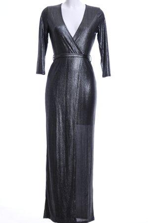ISKA Maxikleid schwarz extravaganter Stil