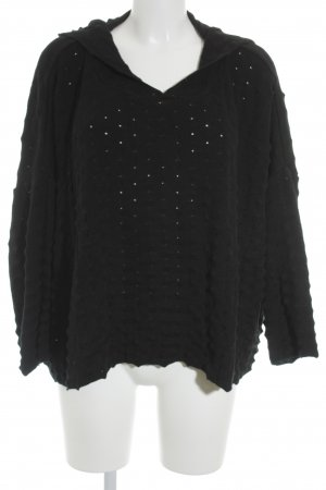 Isolde Roth Jersey con capucha negro modelo de punto flojo look casual