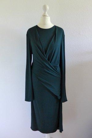 ISSA London Wickelkleid Kleid Langarm dunkelgrün UK16 US12 dt. 40 42 L