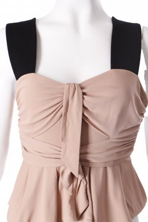 Issa Frill Top black-dusky pink Layered fabric detail