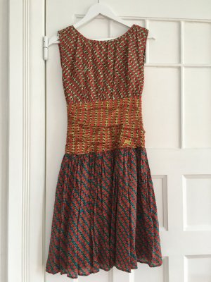 Issa Seide Kleid Silk dress Wassermelone rot grun gelg blau