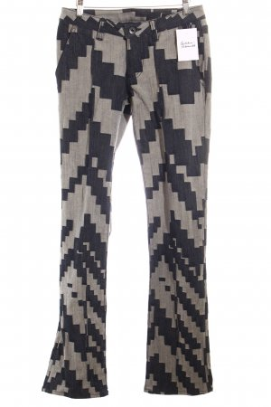 Issey miyake Straight-Leg Jeans hellgrau-graublau Zackenmuster Jeans-Optik