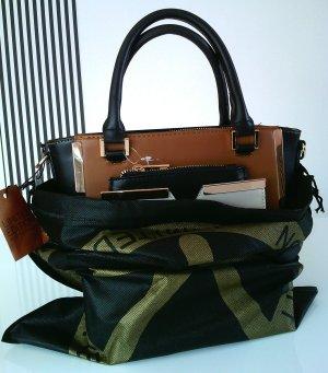 It-bag aus Limited Edition schwarz/cognac/creme mit Staubbeutel