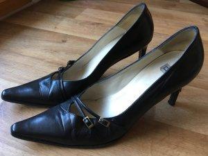 Ital. Damen Stilettos Dolce Vita Gr. 39 *Leder schwarz Pumps Designer High Heels