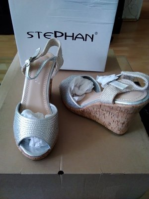 Wedge Sandals silver-colored