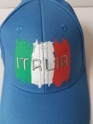 Italia Italien Canterbury Rugby World Cup Basecap Kappe Mütze Cappy Unisex Blau