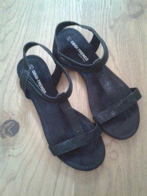 Italian Style Sandalen mit dezentem Glitzer