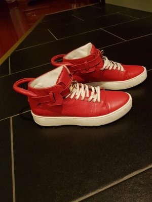 High Top Sneaker red