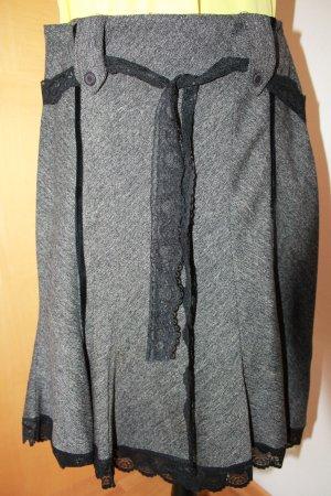 0039 Italy Skater Skirt silver-colored-black polyester