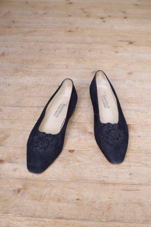 0039 Italy Ballerinas with Toecap black leather