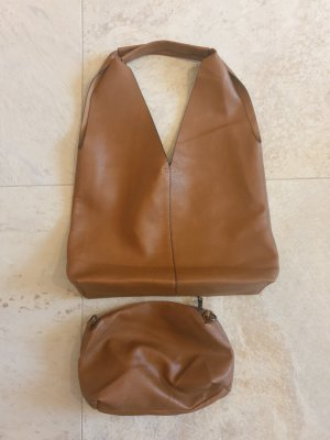 Made in Italy Pouch Bag cognac-coloured