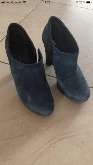 Italienische blaue Ankle Boots vom Mai Piu Szenza, echtes Wildleder