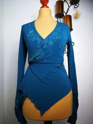Camicetta aderente blu fiordaliso Acetato