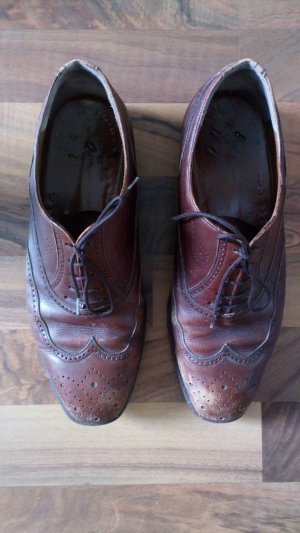 Vintage Wingtip Shoes cognac-coloured