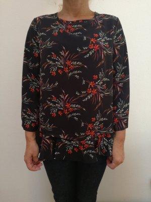 Italienische Damen Bluse Gr. XS/S schwarz rot