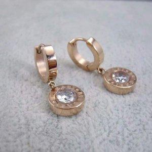 Italienische Designer Ohrringe 18 Karat Rose Gold plated überzogen Neu