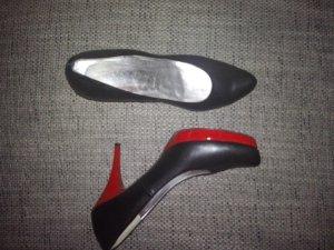 Italienische echt Leder High Heels