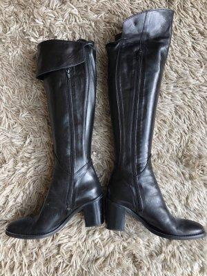 Italienische lange Stiefel (Overknee), Gr. 39, schwarz, wie NEU