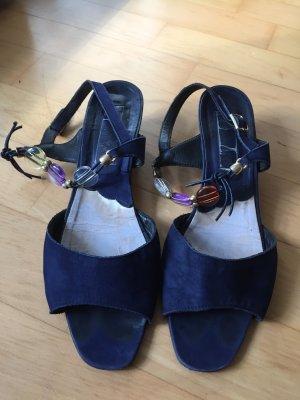 Sandalo blu scuro Pelle