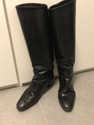 Italienische Lederstiefel schwarz, Gr 38