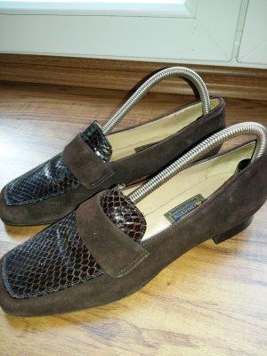 Italienische Loafer Slipper Echtleder
