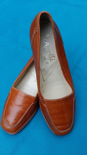 Amalfi Loafers brown-cognac-coloured leather
