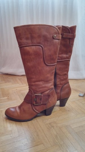 Minozzi Milano Jackboots cognac-coloured-camel leather