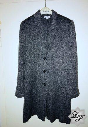 Italienische Mode! Dunkelgrau melierter Mantel