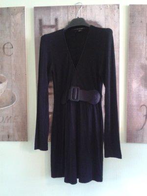 italienische Mode - schwarze Tunika mit abnehmbaren Gürtel
