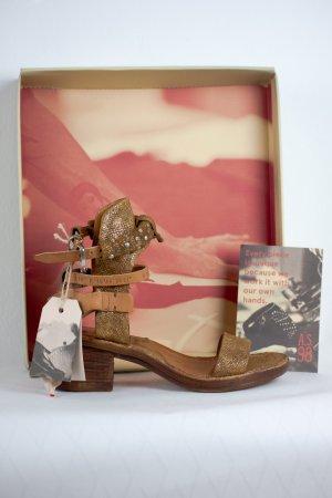 A.S.98 Outdoor sandalen lichtbruin-goud Leer