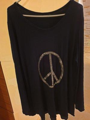 Italienische Tunika ....Peace Zeichen in Silber 46/48