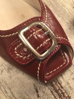 Attilio giusti leombruni Bailarinas con tacón con punta abierta rojo oscuro