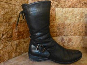 Italienischer schwarzer Stiefel aus Nappa-Leder Größe 41