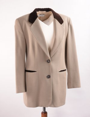 Wool Blazer cream-oatmeal wool