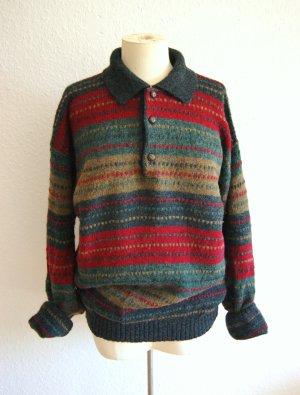 Italienischer vintage Wollpullover, oversized Pullover reine Shettland-Wolle, blogger