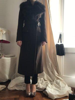 Abrigo de invierno marrón oscuro-marrón-negro
