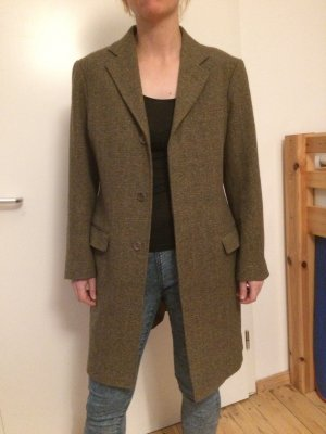 Aspesi Cappotto in lana grigio-verde Lana