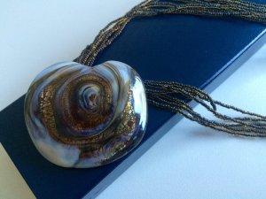 Italienisches Collier aus Murano-Glas - neu, nie getragen - Unikat