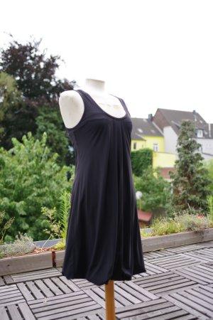 vestido de globo negro poliamida