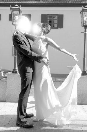 Italienisches Designer Hochzeitskleid Brautkleid Lang edel