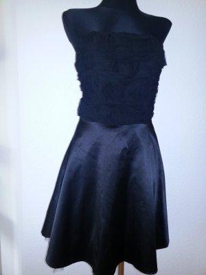 Italienisches Kleid Schwarz Größe S