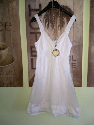 Basically You Pinafore dress white cotton